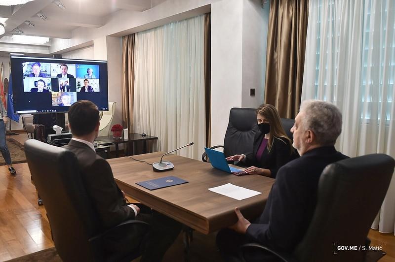Μαυροβούνιο: Διαδικτυακή συζήτηση Krivokapić και αντιπροσωπείας της ΕΤΑΑ