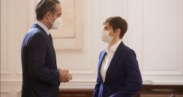 Την διεύρυνση της διμερούς συνεργασίας συζήτησαν Μητσοτάκης Brnabić