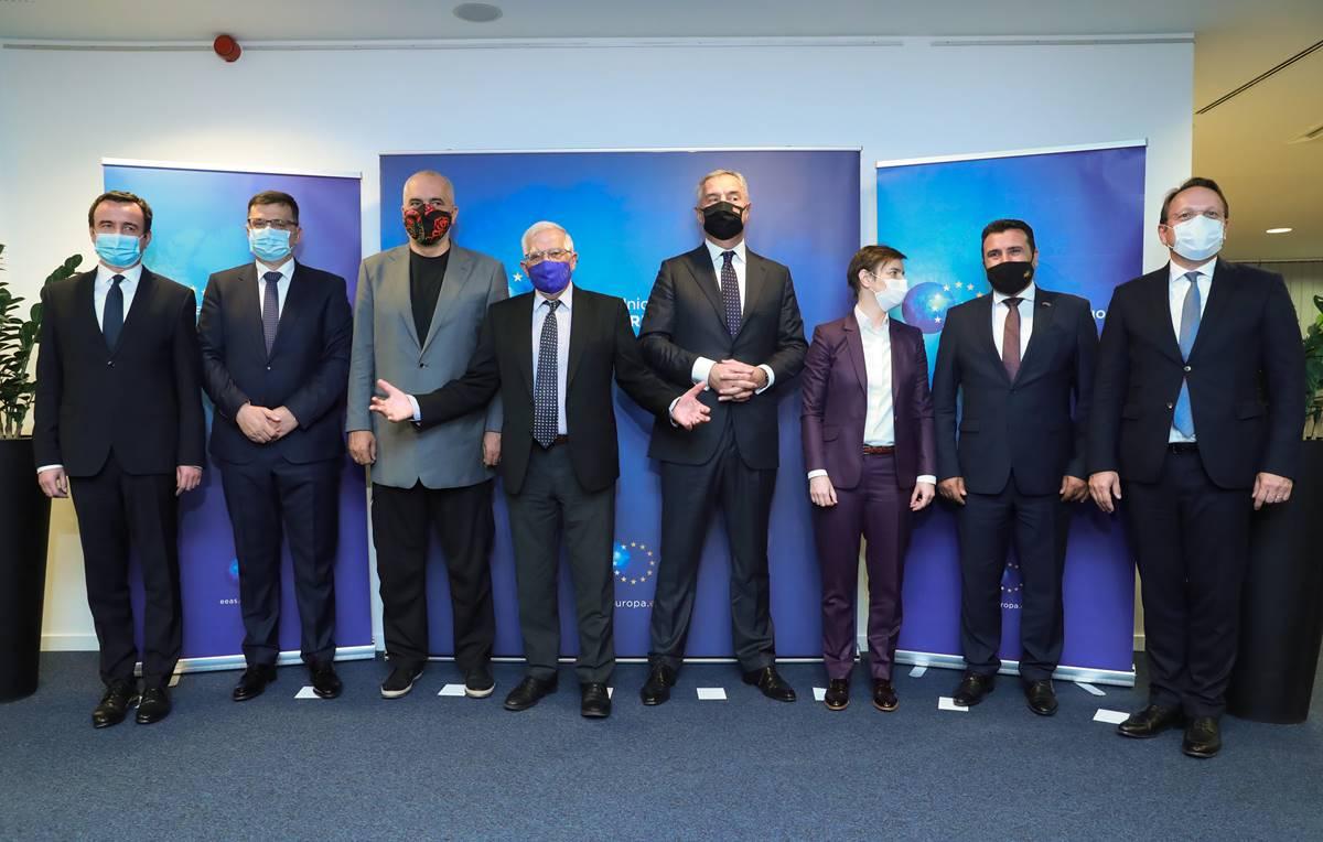 Δείπνο παρέθεσε ο Borrell στους ηγέτες των Δυτικών Βαλκανίων