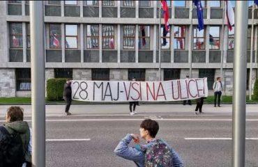 Σλοβενία: Οι αριστεροί διαδηλωτές καλούν την κυβέρνηση να παραιτηθεί