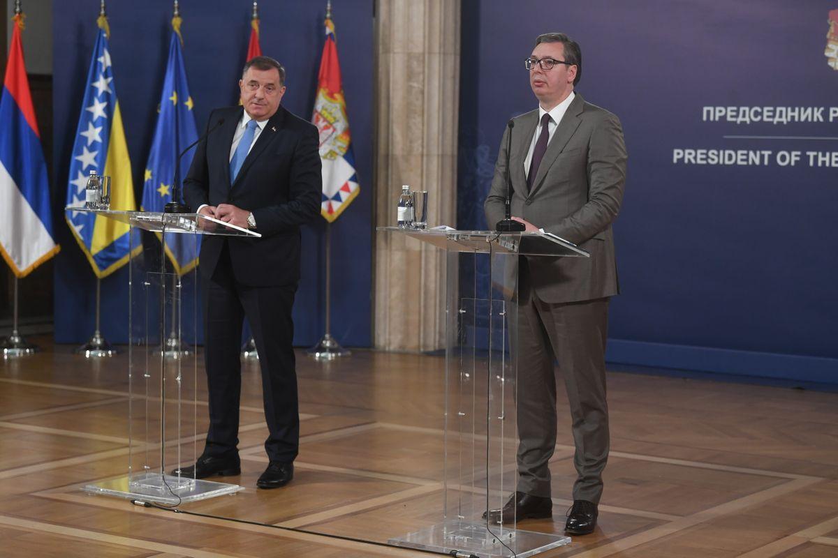 Β-Ε: Οι πολιτικοί ηγέτες της Σερβικής Δημοκρατίας συναντήθηκαν με τον Vučić για να συζητήσουν τον διορισμό του νέου Ύπατου Εκπροσώπου