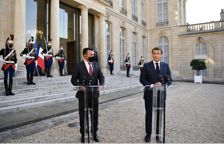 Η Γαλλία υποστηρίζει τη διαδικασία ένταξης της Βόρειας Μακεδονίας, δήλωσε ο Macron στον Zaev