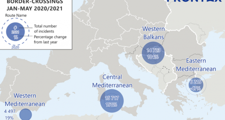 Frontex: Διπλασιάστηκαν από πέρυσι οι παράνομοι μετανάστες στο Βαλκανικό Διάδρομο