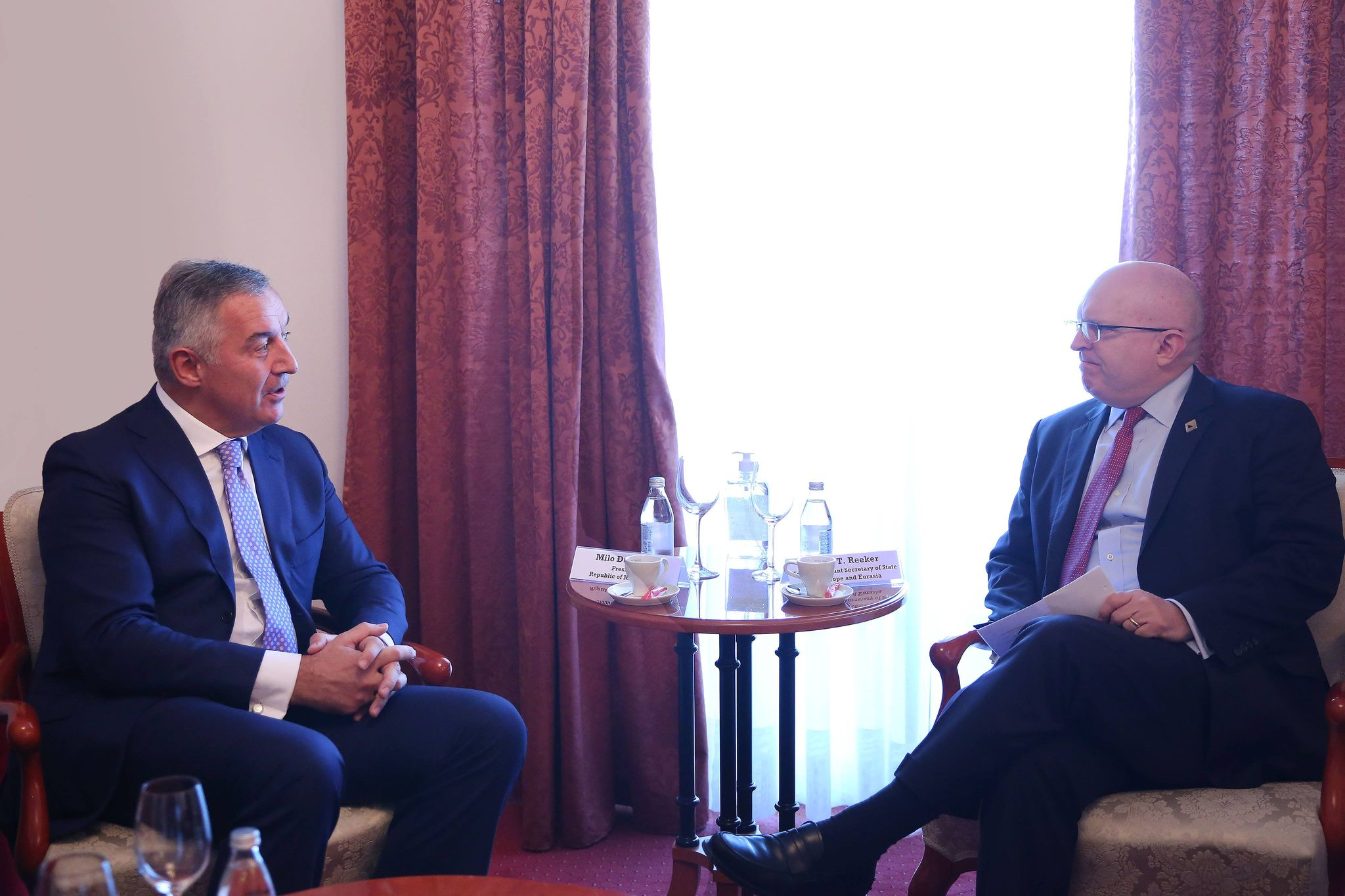 Μαυροβούνιο: Ο Đukanović συναντήθηκε με τον Reeker στην Οχρίδα