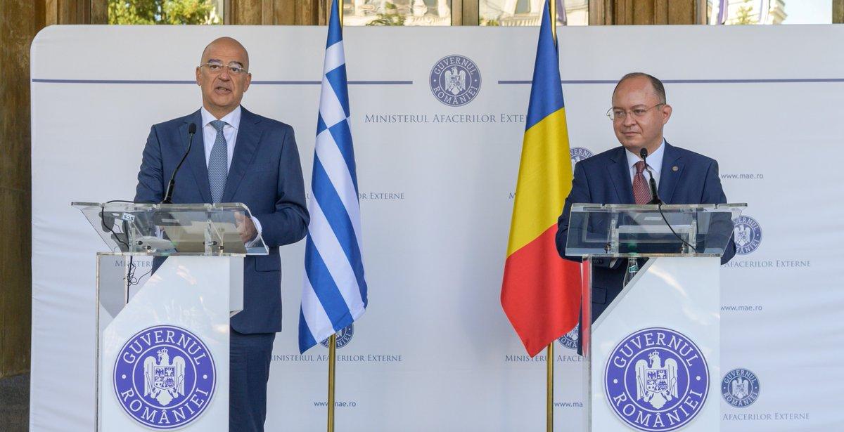 Ρουμανία: Συνάντηση Aurescu-Δένδια