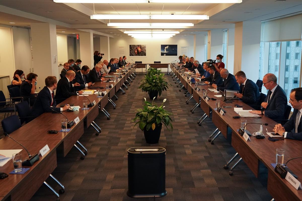 Ο Σλοβένος υπουργός Εξωτερικών Logar στην άτυπη συνάντηση των υπουργών Εξωτερικών της ΕΕ στη Νέα Υόρκη