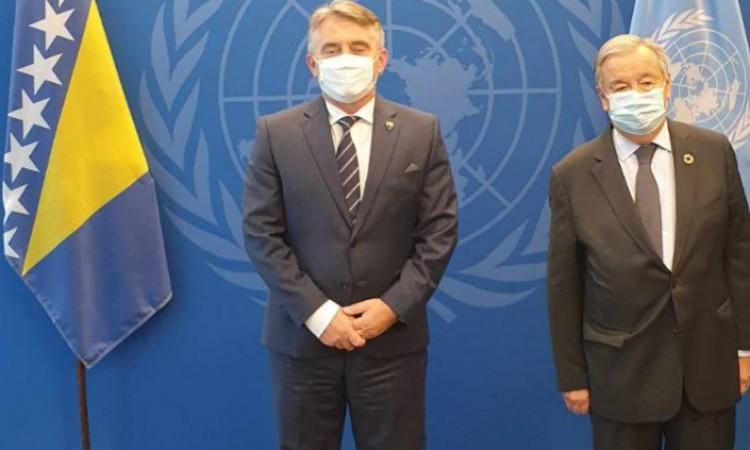 Β-Ε: Ο Πρόεδρος της Προεδρίας Komšić συναντήθηκε με τον Γενικό Γραμματέα του ΟΗΕ Guterres