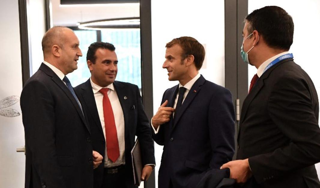 Συνάντηση Zaev, Radev, Merkel, Macron