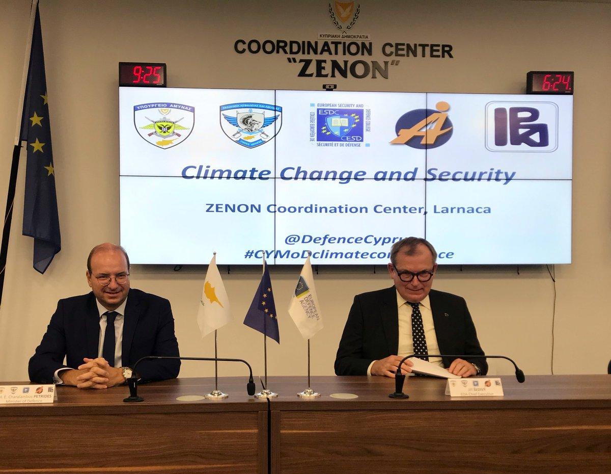 Κύπρος: Ολοκληρώθηκε η επίσκεψη στην Κύπρο του Εκτελεστικού Διευθυντή του Ευρωπαϊκού Οργανισμού Άμυνας