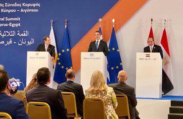 Την τεράστια σημασία της τριμερούς συνεργασίας επιβεβαίωσαν οι ηγέτες Ελλάδας, Κύπρου και Αιγύπτου
