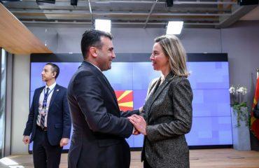 Zaev-Mogherini: Napredak zemlje je pozdravljen, nastaviti reforme
