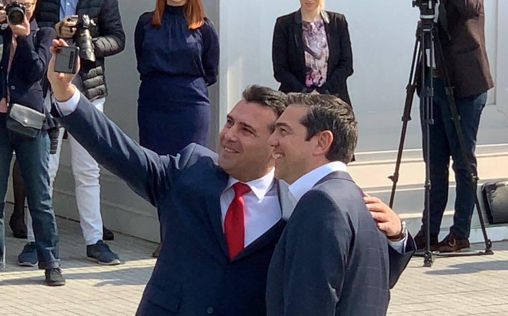 Tsipras srdačno dočekan u Skoplju