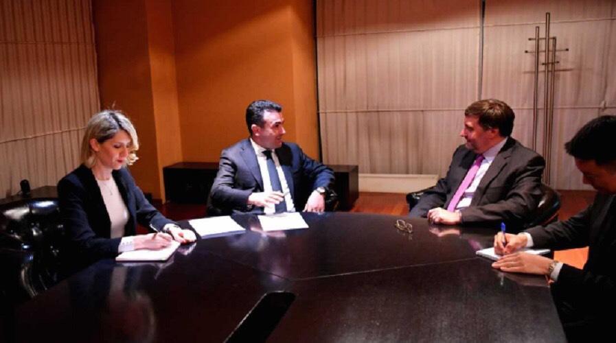 Makedonski premijer Zaev se sastao sa visokim američkim funkcionerom Metju Palmerom
