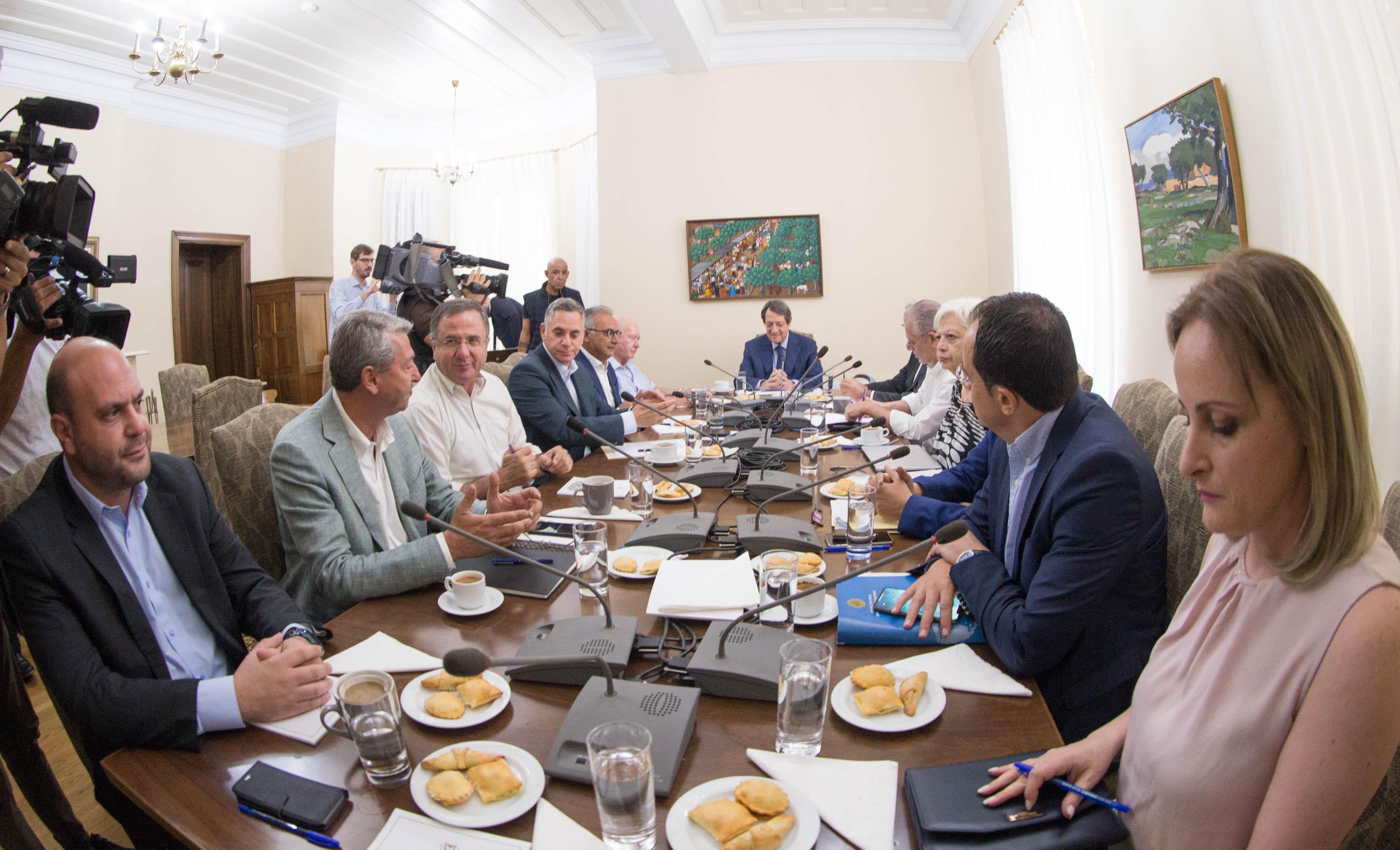 Novi sastanak Saveta političkih lidera Kipra biće održan nakon sastanka Anastasiades-Akinci