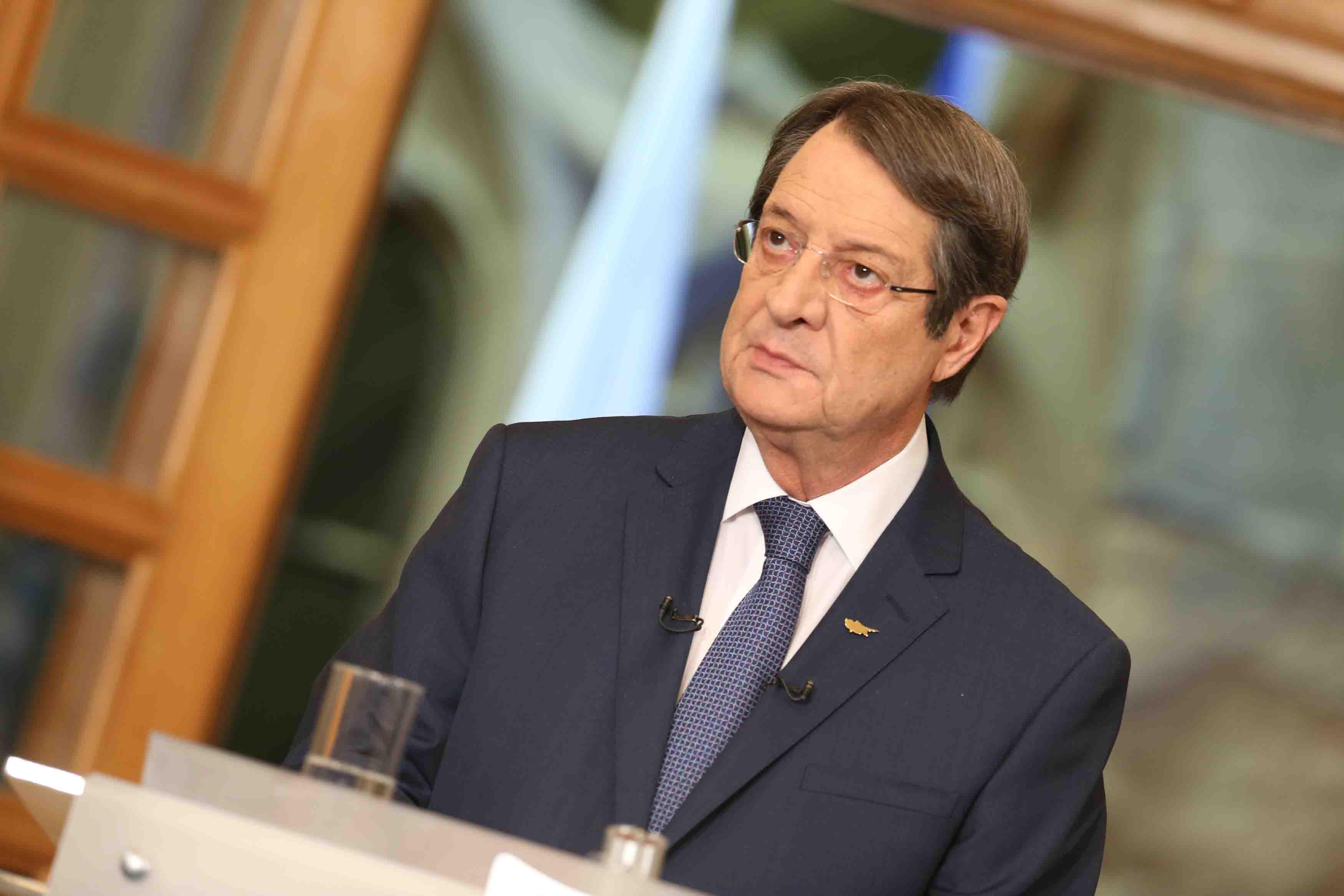 Predsednik Anastasiades kiparskim Turcima predstavlja kontra predlog za prirodni gas