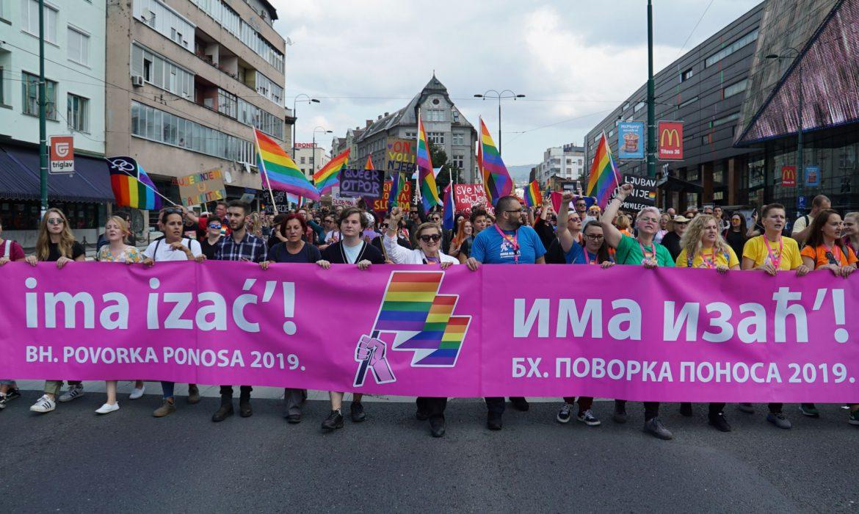 Nije bilo incidenata na prvoj Paradi ponosa u BiH