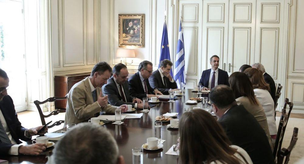 Uzastopni sastanci u vezi sa pitanjem migranata u palati Maximos