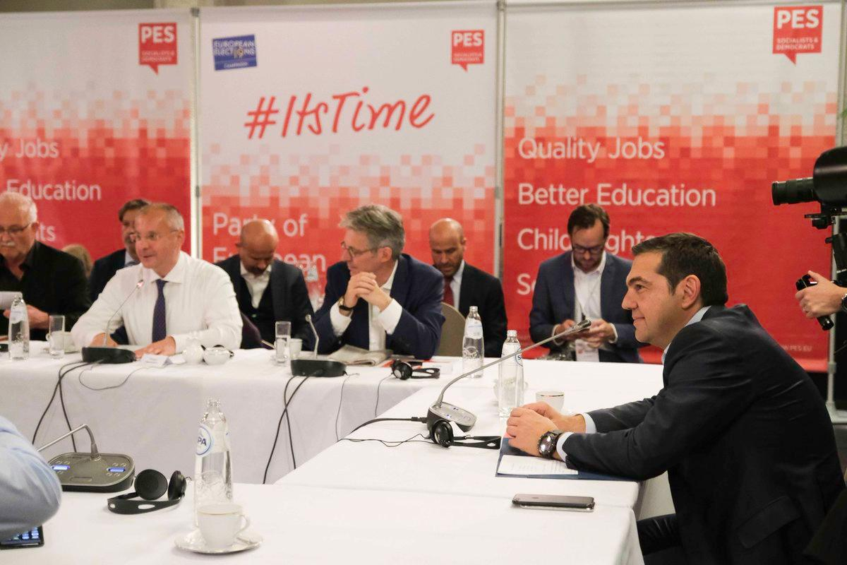 Alexis Tsipras sa evropskim Socijalistima