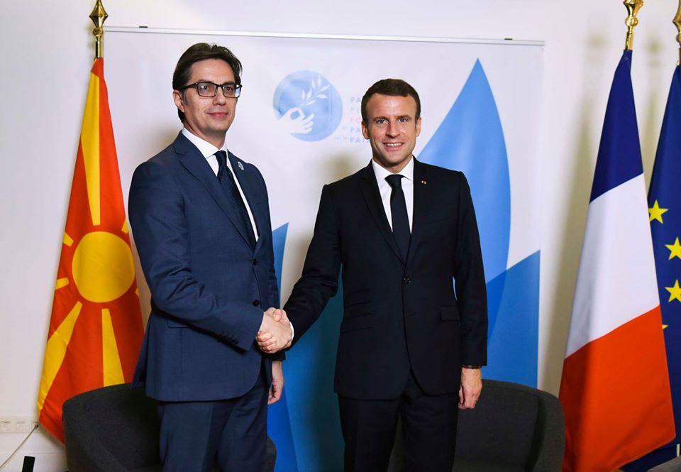 Pendarovski: Macron ne može dati garancije za početak pregovora