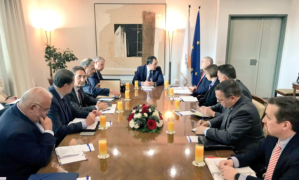 Kipar: Ministri spoljnih poslova, unutrašnjih poslova i pravde sastali se sa u Nikoziji sa Rischom