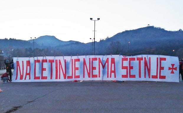 Cetinje: Protest građana protiv protesta Srpske Pravoslavne Crkve