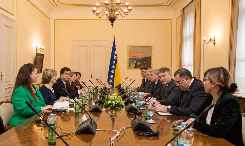 Članovi Predsedništva BiH sastali se sa zamenicom direktora USAID-a Bonnie Glick