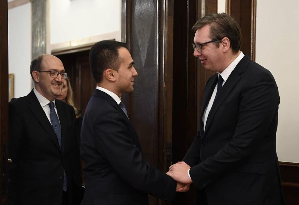 Srbija: Vučić se sastao sa Di Maiom