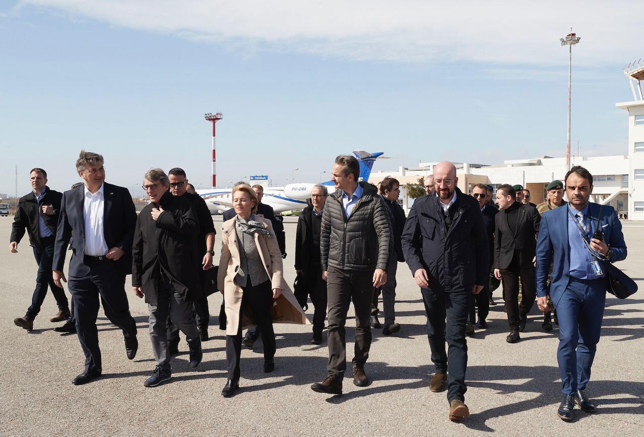 Grčka: Lideri EU posetili grčko-tursku granicu