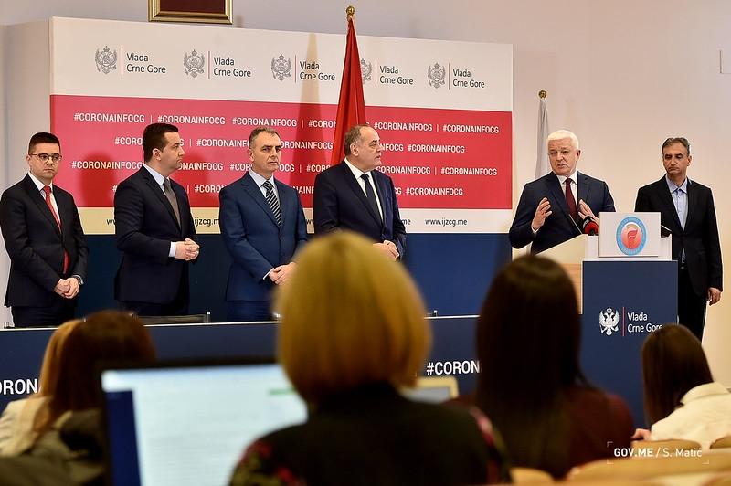 Prvi slučajevi zaraze koronavirusom u Crnoj Gori