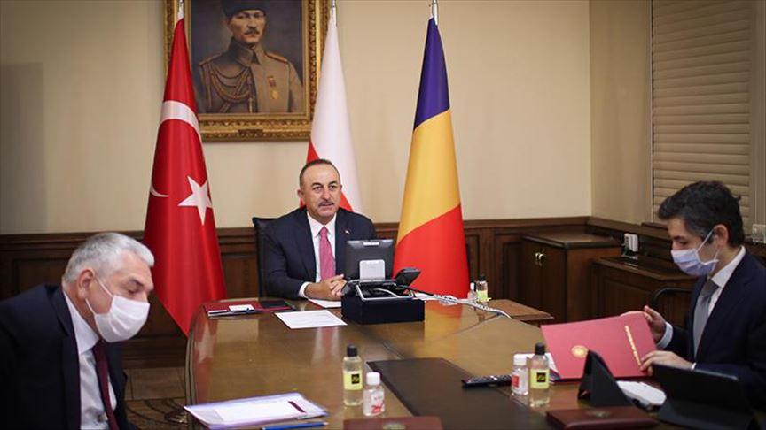 Šefovi diplomatija Rumunije-Poljske-Turske održali sastanak videokonferencijom