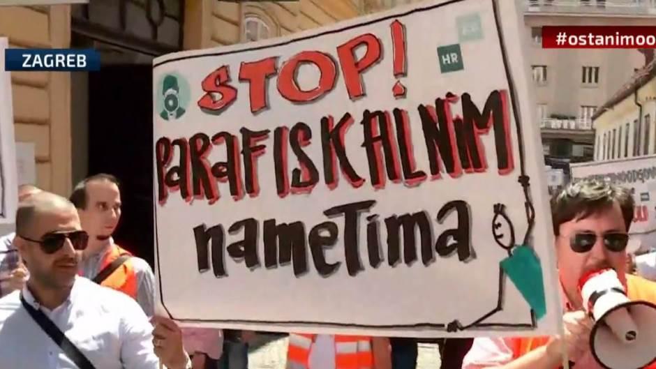 Hrvatska: Preduzetnici protestuju u Zagrebu