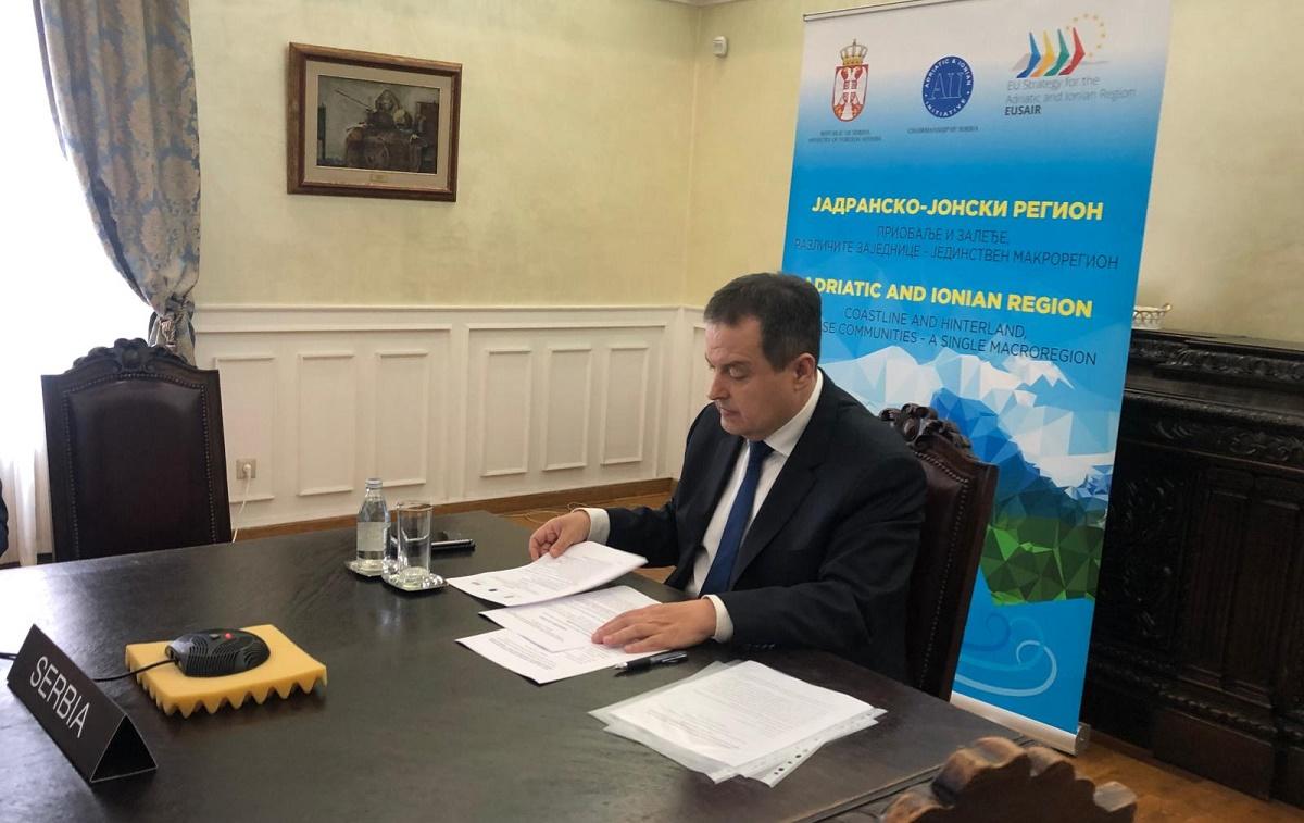 Srbija: Dačić poziva na jačanje saradnje između zemalja Jadransko-jonske inicijative
