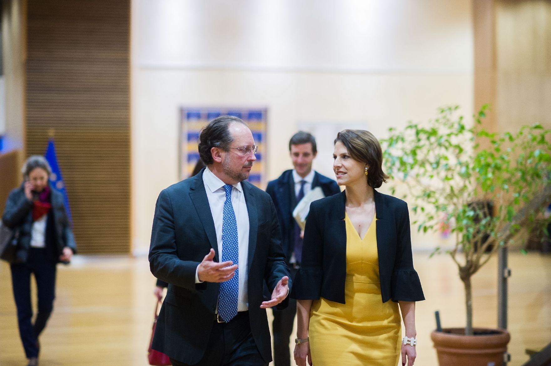 Austrijski ministar spoljnih poslova i ministarka za Evropu u poseti Tirani, Beogradu i Prištini