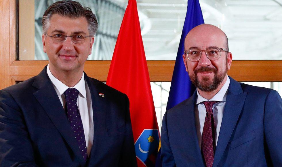 Hrvatska: Michel se zahvalio Plenkoviću za predan rad tokom hrvatskog predsedavanja