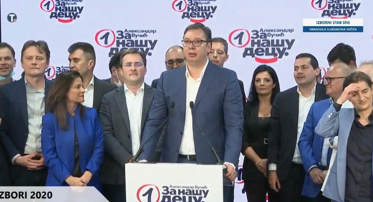 Srbija: Predsednik Vučić proglasio ubedljivu pobedu na opštim izborima