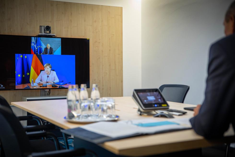 Slovenija: Janša, Merkel i Costa usaglasili prioritete trojnog predsedavanja