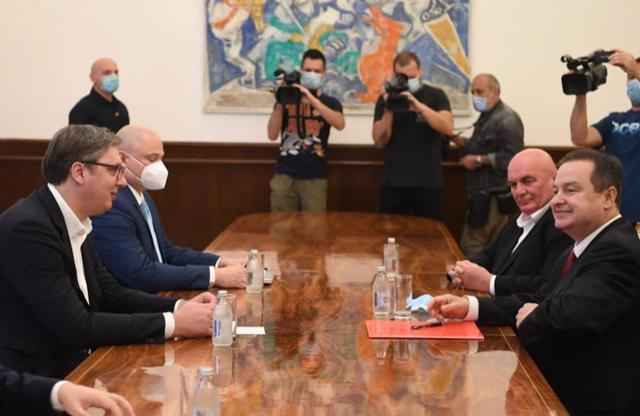 Srbija: Vučić održao konsultacije o formiranu Vlade sa Dačićem i Markovićem