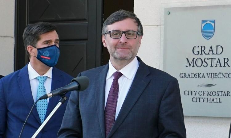 BiH: Palmer u Mostaru razgovarao sa predstavnicima stranaka i NVO