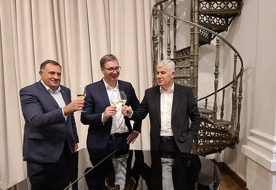 BiH: Izetbegović ogorčen zbog sastanka Vučić-Dodik-Čović u Beogradu