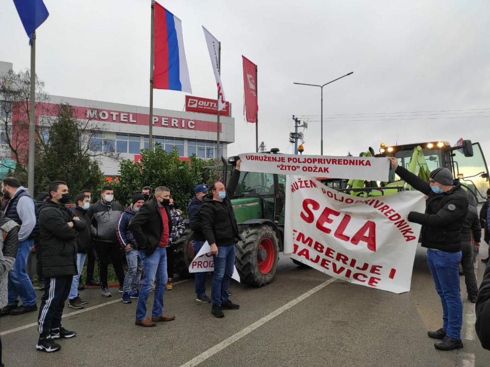 BiH: Poljoprivrednici protestovali zbog prekomernog uvoza
