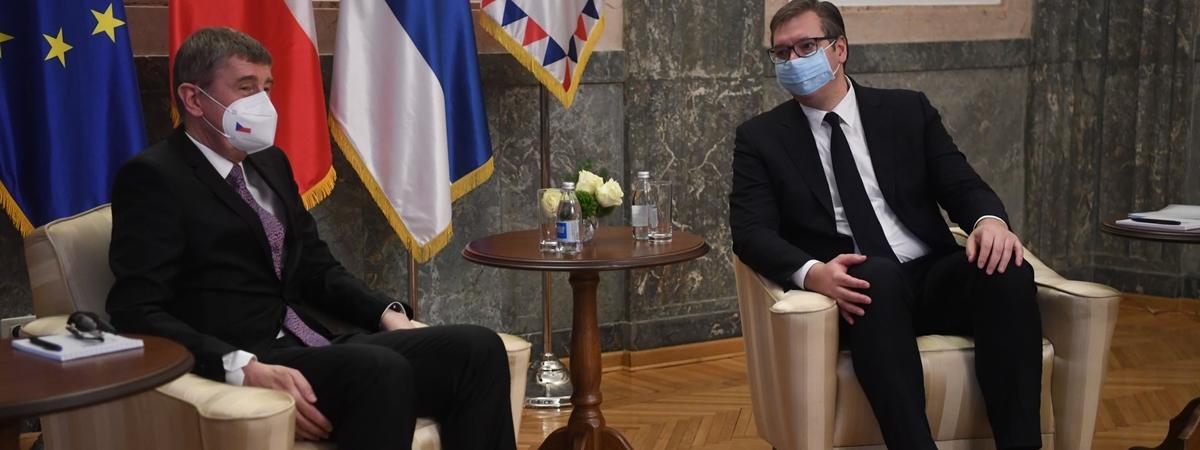 Srbija: Predsednik Vučić se sastao sa češkim premijerom Babišem