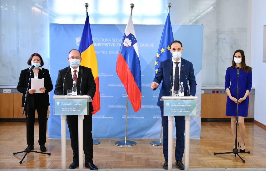Slovenija: Ministar Logar sastao se sa rumunskim kolegom Aurescuom