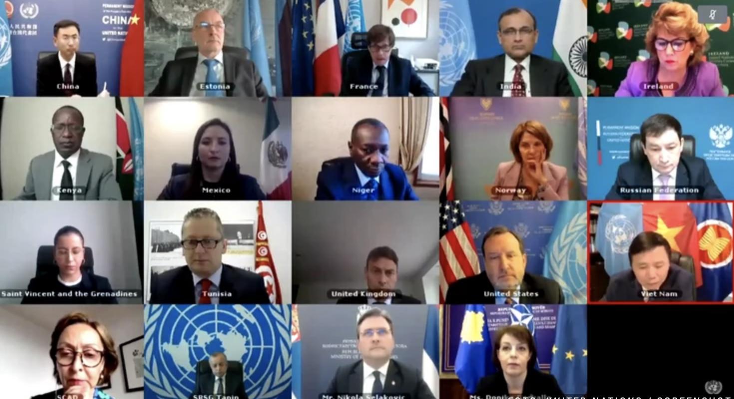 Tenzije na virtuelnom sastanku Saveta bezbednosti UN nakon svađe oko simbola Kosova