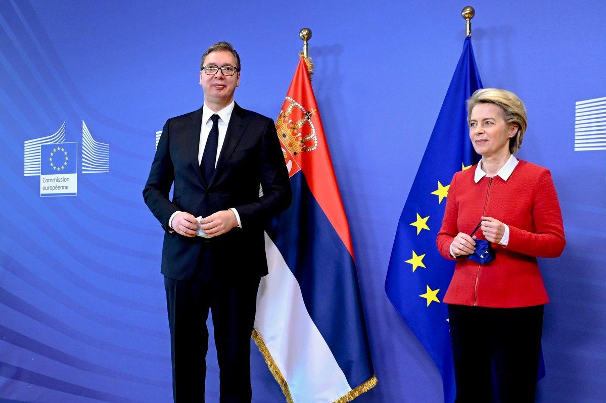 Srbija: Vučić se u Briselu sastao sa Von der Leyen, nada za nastavak dijaloga sa Prištinom