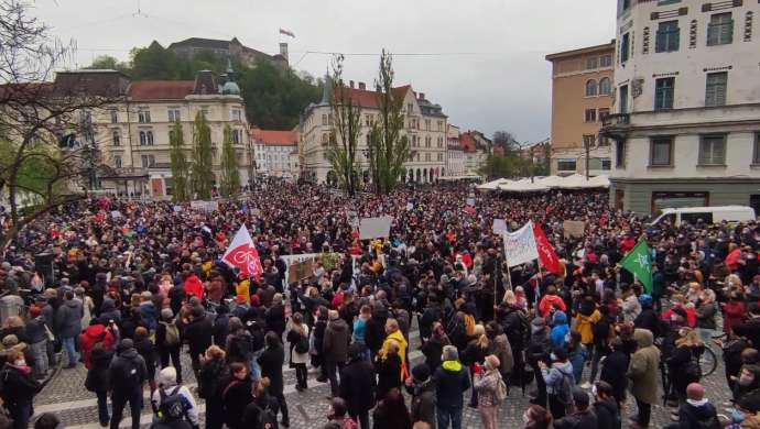 "Slovenija: ""Anti-Janša"" protest u Ljubljani"