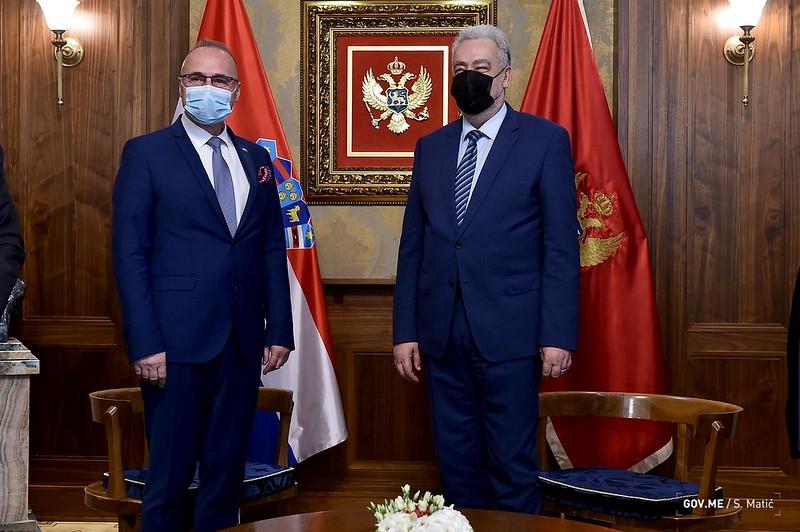 Crna Gora: Premijer Krivokapić se sastao sa hrvatskim ministrom Gordanom Grlićem Radmanom