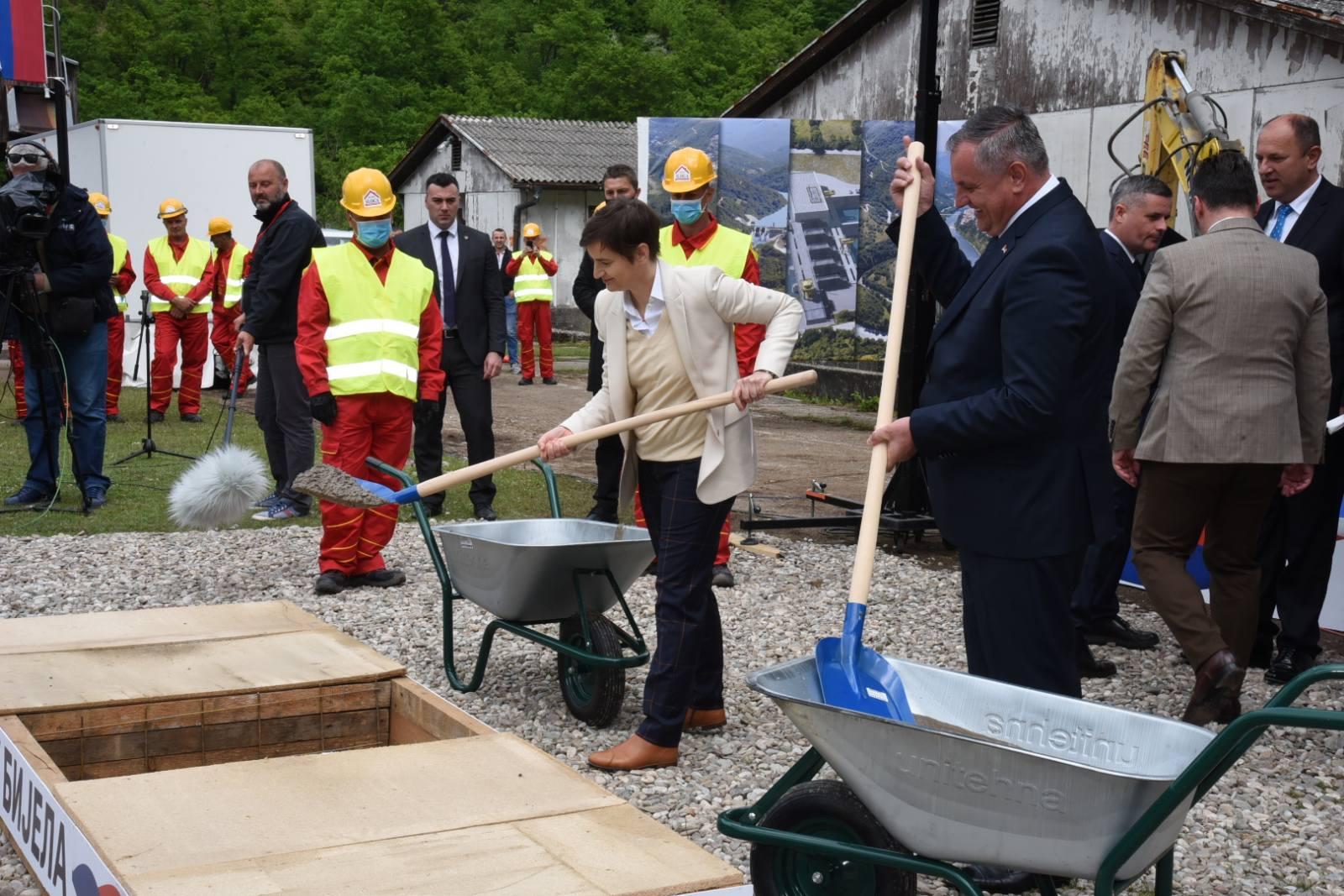 BiH: Srbija i RS postavili kamen temeljac za izgradnju hidroelektrane Buk Bijela