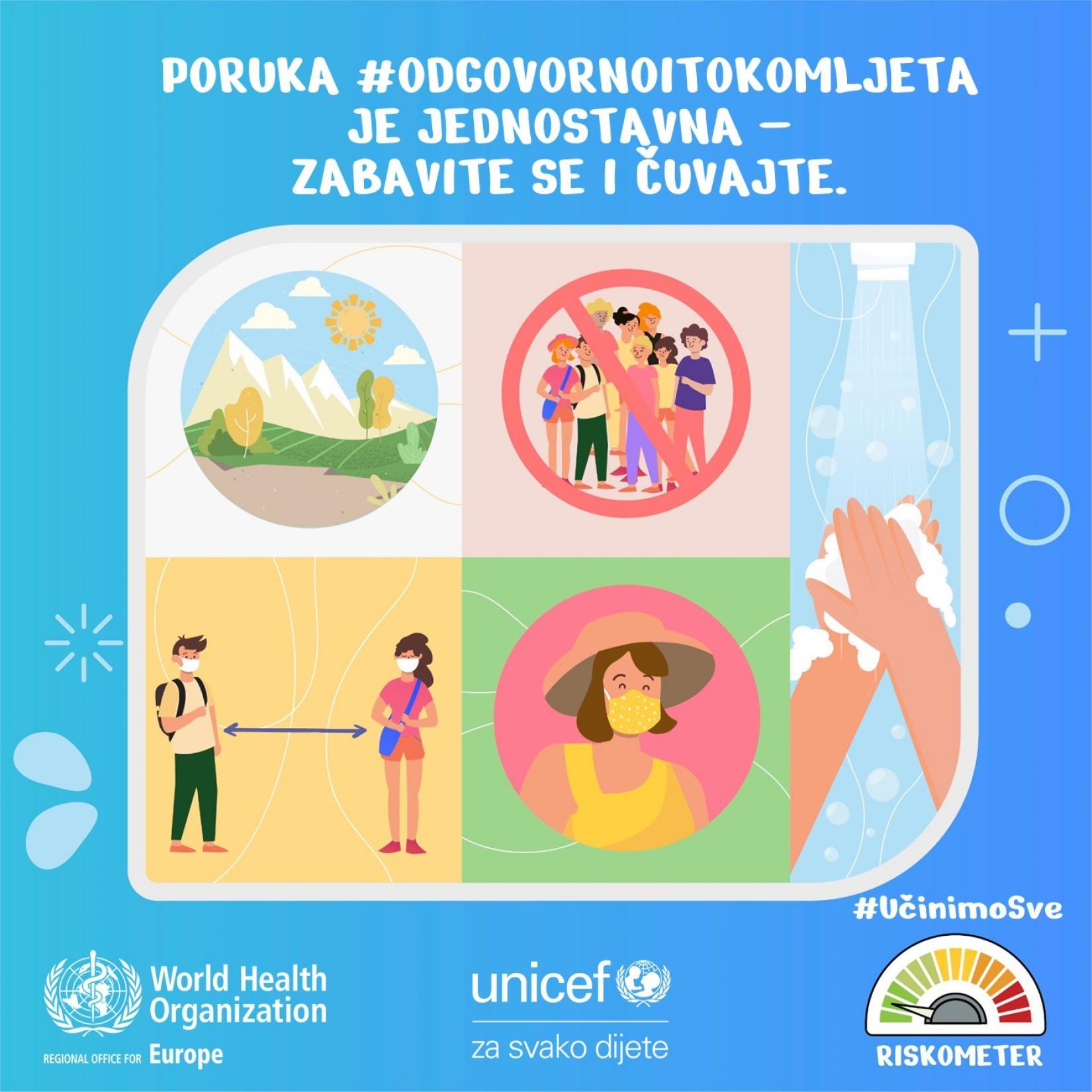 BiH: UNICEF podržava kampanju #OdgovornoiTokomLjeta