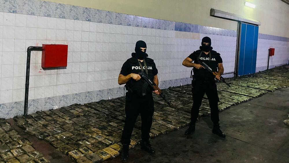 Crna Gora: Zaplenjeno više od 1500 kg kokaina