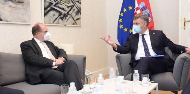 Hrvatska: Premijer Plenković se sastao sa visokom predstavnikom u BiH Christianom Schmidtom